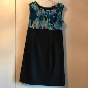 Dress Barn size 16 Floral and Black dress